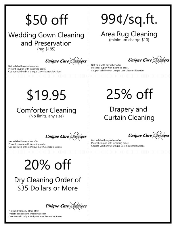 Unique Care Cleaners - Great deals with always low prices